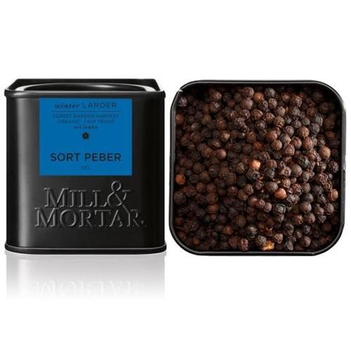 Sort peber hel Økologisk - 50 gr - Mill & Mortar