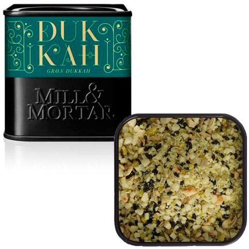 Grøn Dukkah mandler m. grøn pistacie Økologisk - 75 gr - Mill & Mortar
